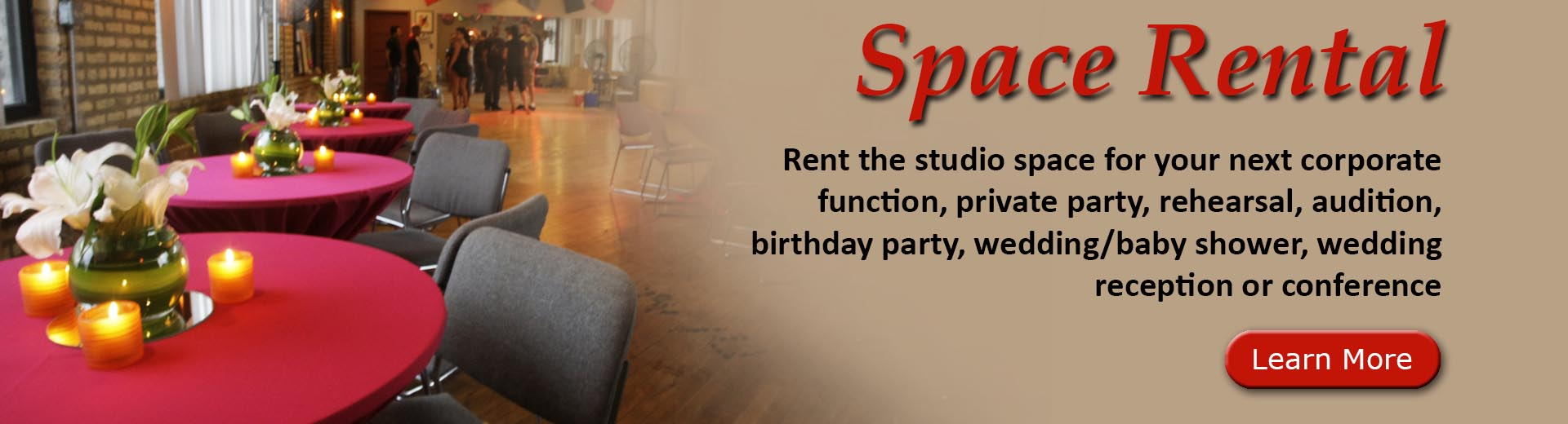Rent the Studio Space for Your Event